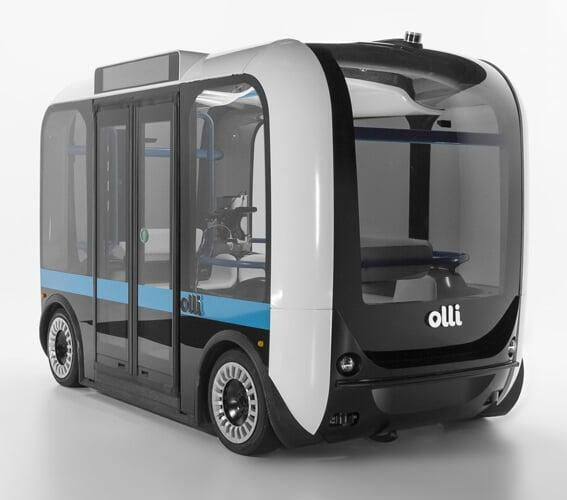 Ollie, the autonomous shuttle was 3D printed using additive techniques